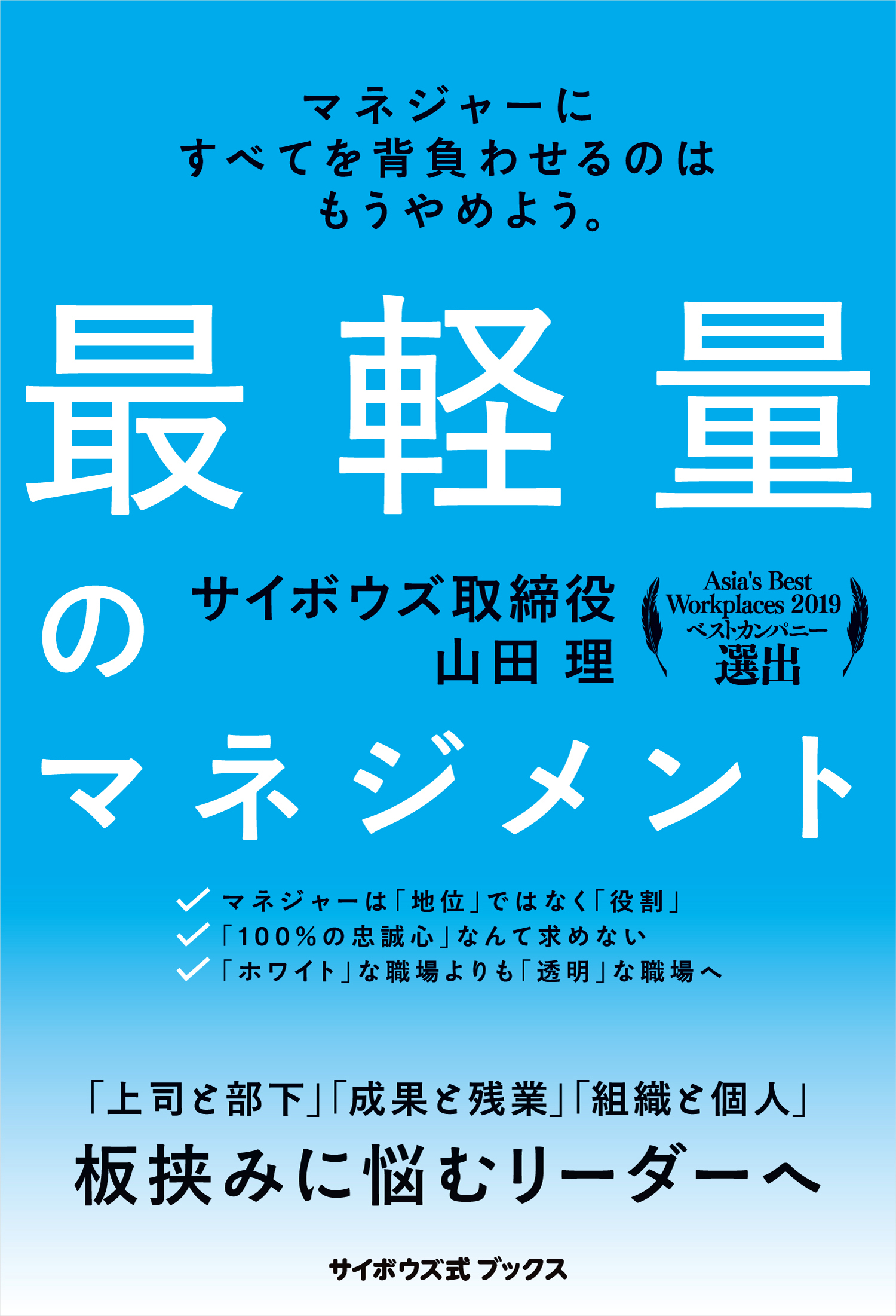 「重版決定!『最軽量のマネジメント』(サイボウズ式ブックス)」記事アイキャッチ画像